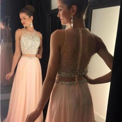 Prom Dress, Sleeveless Prom Dress, ..