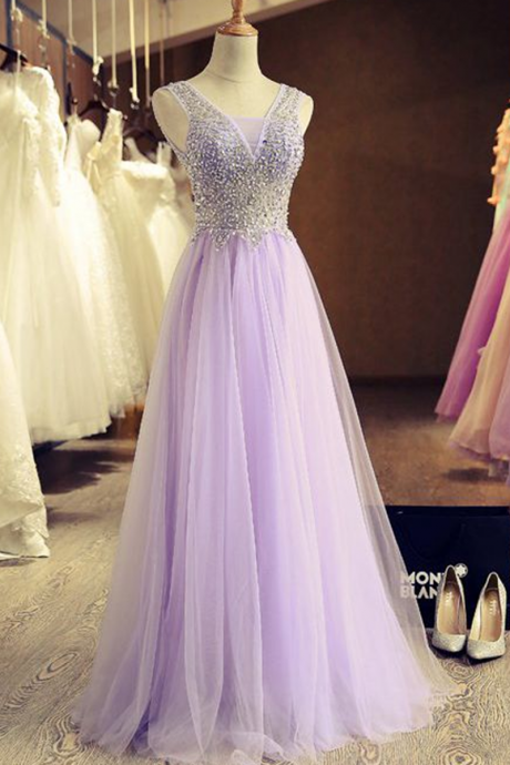 Beautiful stunning pink tulle A-line long handmade prom dresses, Christmas party dress for teens, evening dress, bridal dress