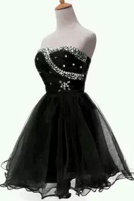 2016 elegant black short prom dresses, black organza prom dresses,black evening dresses , sexy formal prom dresses,dresses party evening,sexy evening gowns,formal dresses evening,2016 new arrival formal dresses,elegant short evening dresses