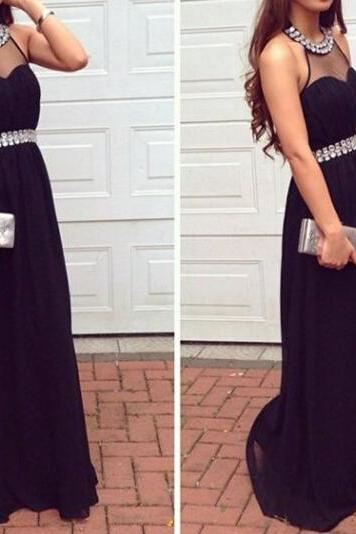Sexy Backless Prom Dress,Halter Chiffon Prom Dresses , Evening Dresses, Formal Dresses,Formal Party Dress,Wedding Guest Prom Gowns