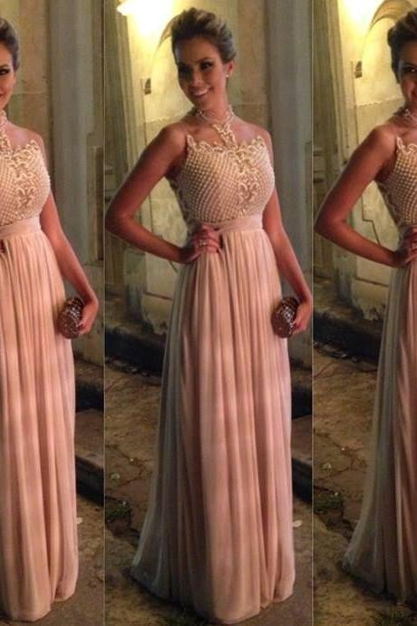 Pink Prom Dresses,Pink Evening Gowns,Simple Formal Dresses,Prom Dresses,2017 formal dresses