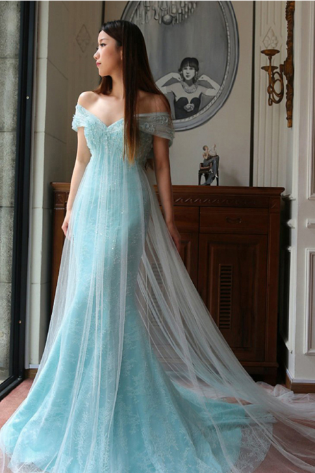 Arrival Prom Dress,Modest Prom Dress,Sweetheart Light Blue Prom Dresses,Lace Prom Dresses