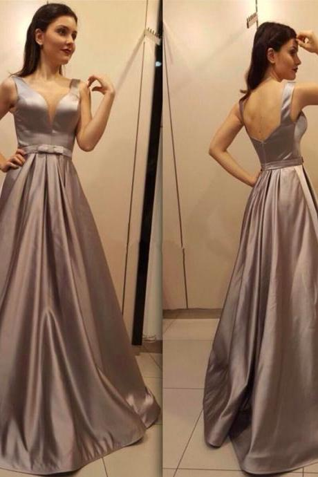 Custom Made Prom Dress,Backless Prom Dress,Simple Prom Dress,Satin Prom Dress,Plus Size Evening Dress,Long Prom Party Dress,Formal Dress,A-line Prom Dress,
