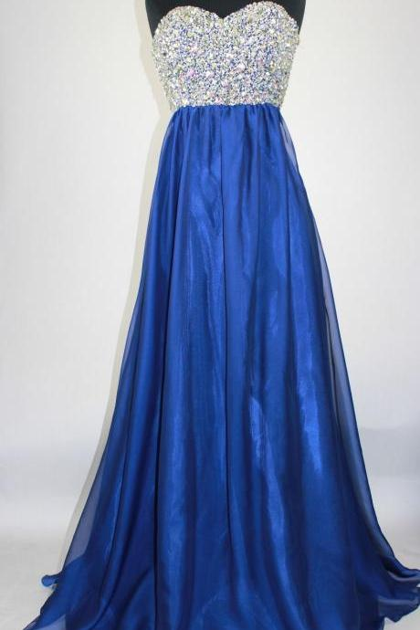royal blue Prom Dress,off shoulder Long Prom Dresses,chiffon Prom Dresses,Evening Dress long , Formal Women Dress,prom dress