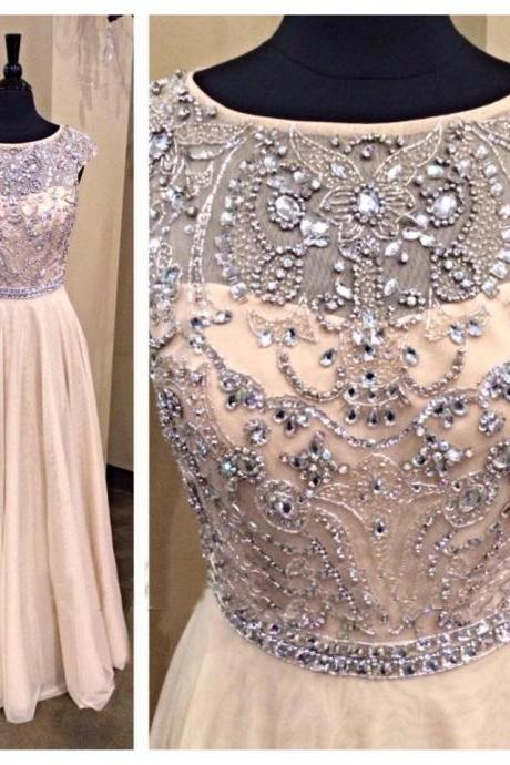 long prom dress, champagne prom dress, party prom dress, charming prom dress, prom dress with beading, cheap prom dress, evening dress