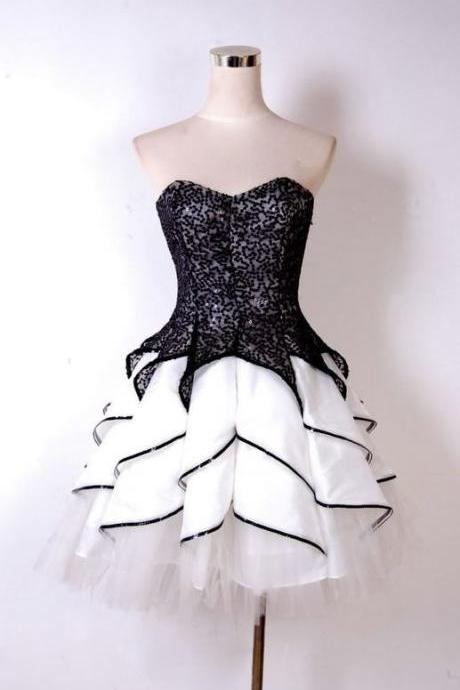 Black Homecoming Dresses,Lace Homecoming Dress,Cute Homecoming Dresses